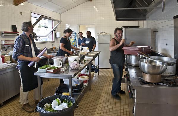 Dans la cuisine de la Cantine