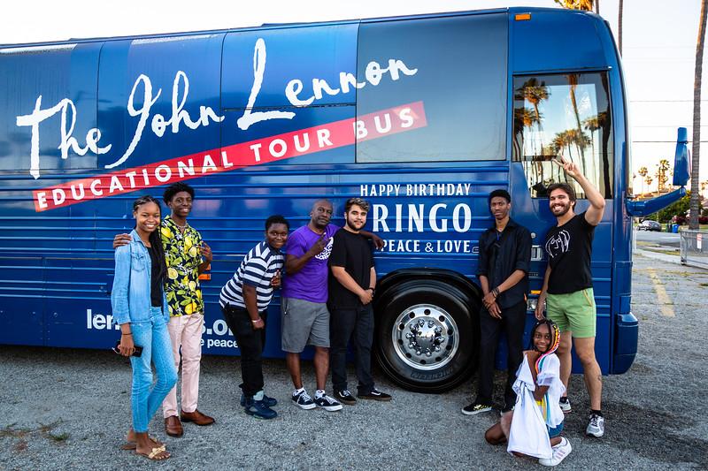2019_06_30, Fernando Pullum, LA, Los Angeles, Marcus Garvey School, Joshua Greene, Bus, Exterior