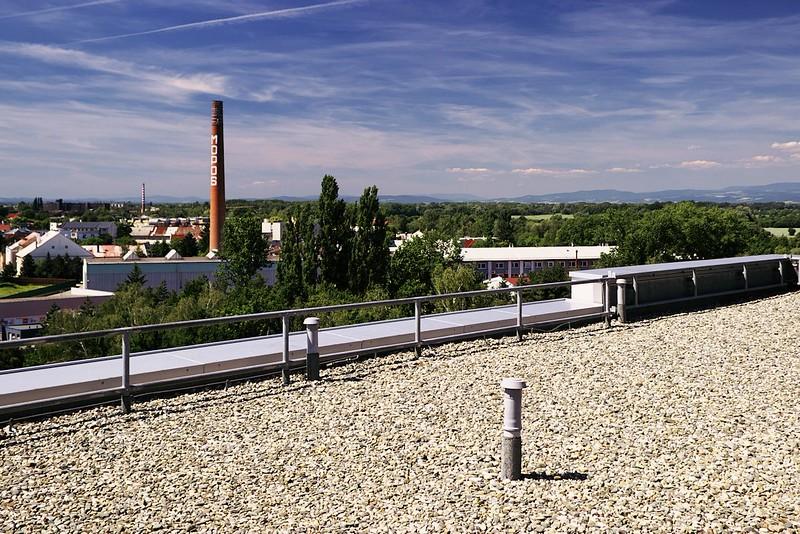Pohled z NH Hoteles zhruba směrem na severozápad