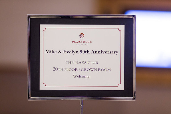 Mike & Evelyn 50th Anniversary  8-28-15