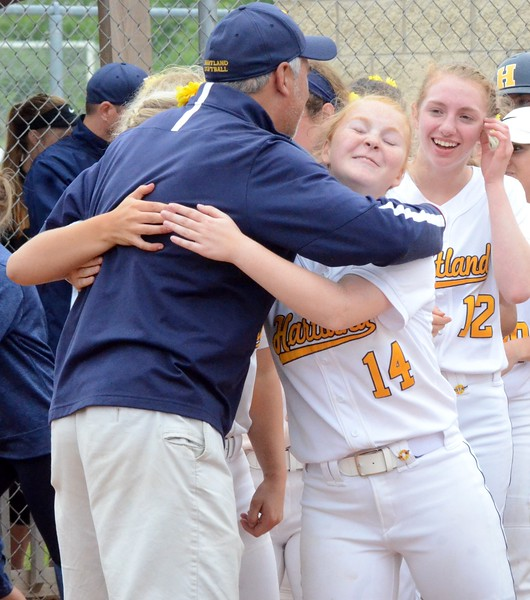 The Hartland softball team defeated South Lyon, 4-2 in eight innings, on Sunday to win the Division 1 regional at Novi High School. Walled Lake Northern and North Farmington also took part in the 4-team tournament, which started on Saturday. (Oakland Press photo gallery by Drew Ellis)