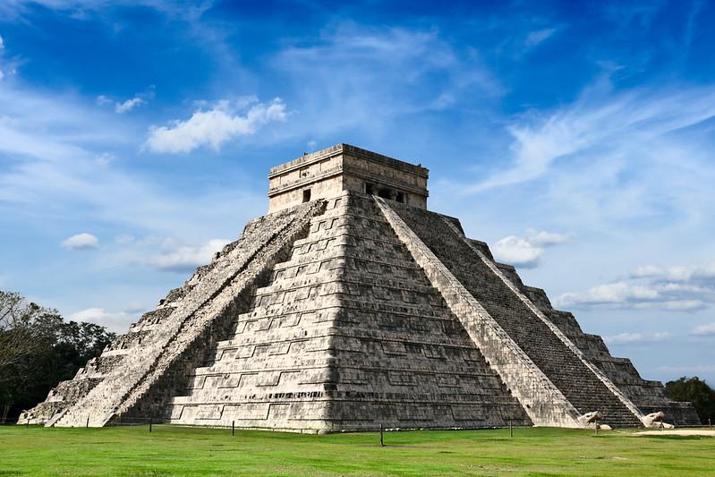 Mayan pyramid in Chichen-Itza, Mexico