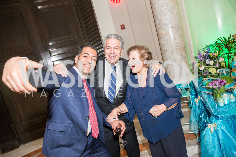 Ali Rahnama, Robert Babayi, Aghdas Babayi, Iranian-American Nowruz Reception, Washington, DC, Carnegie Institute of Science, March 15, 2018.  Photo by Ben Droz.
