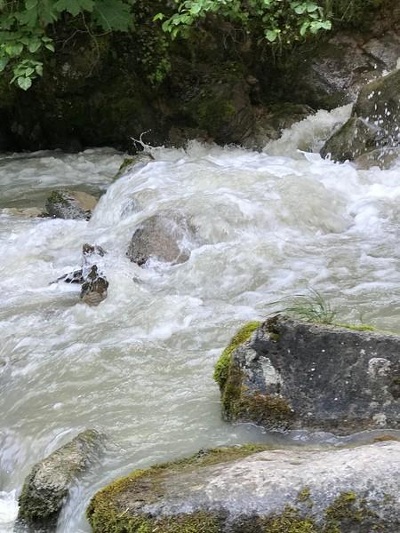 GLACIER DEBRIS MAKES WATER GREY