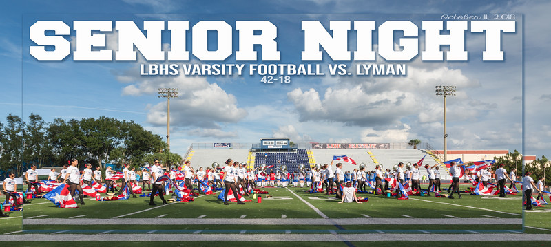 LBHS V FB vs Lyman - Oct 11, 2018 SENIOR NIGHT