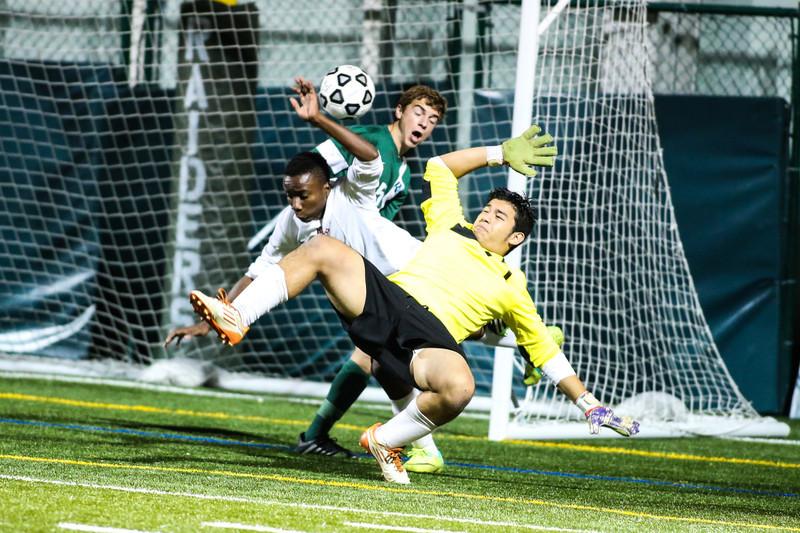 RE Boys Soccer District Final.  Boys won 2-1