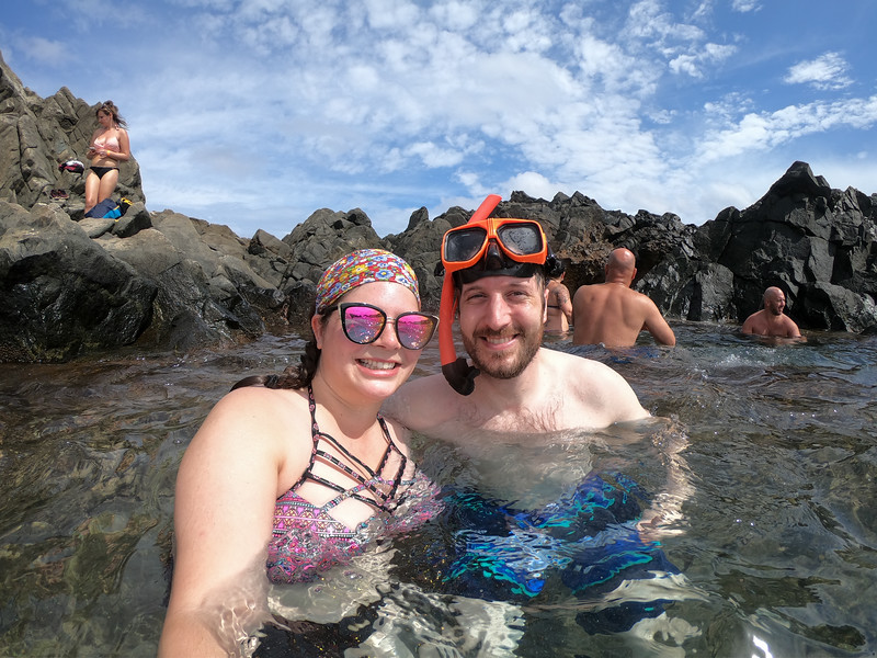 Swimming in the Natural Pool in Aruba