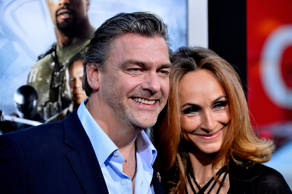 ". Actor Ray Stevenson and Elisabetta Caraccia arrive at the premiere of Paramount Pictures\' ""G.I. Joe: Retaliation\"" at TCL Chinese Theatre on March 28, 2013 in Hollywood, California.  (Photo by Frazer Harrison/Getty Images)"