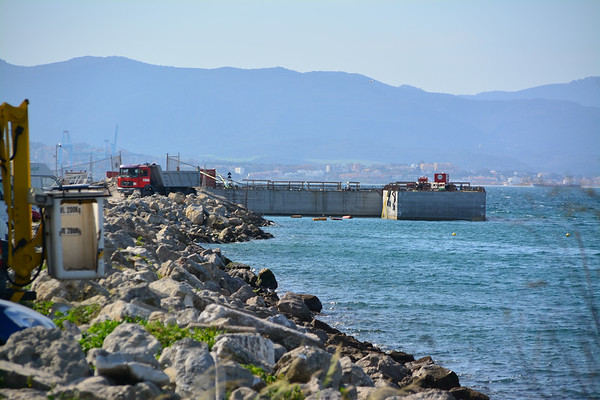 Gibraltar - Reclamation continues to accomodate power plant