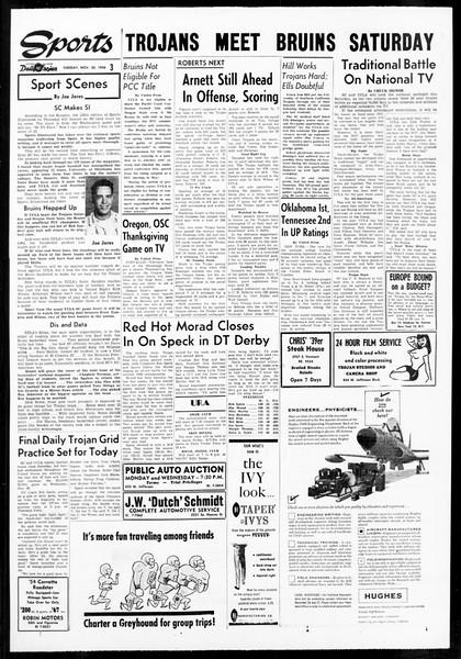 Daily Trojan, Vol. 48, No. 43, November 20, 1956