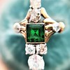 1.01ctw Victorian Emerald (syn) and Diamond Dinner Ring 23