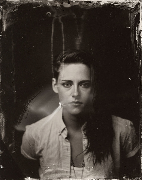 . Kristen Stewart poses for a tintype (wet collodion) portrait at The Collective and Gibson Lounge Powered by CEG, during the 2014 Sundance Film Festival in Park City, Utah. (Photo by Victoria Will/Invision/AP)