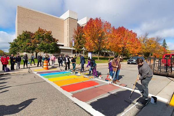 Pride Crosswalk Painting