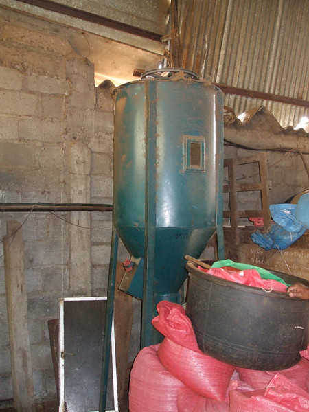 Machine used to mix beans for special order blended coffee