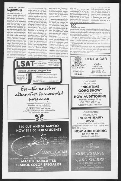 Summer Trojan, Vol. 77, No. 10, July 18, 1979
