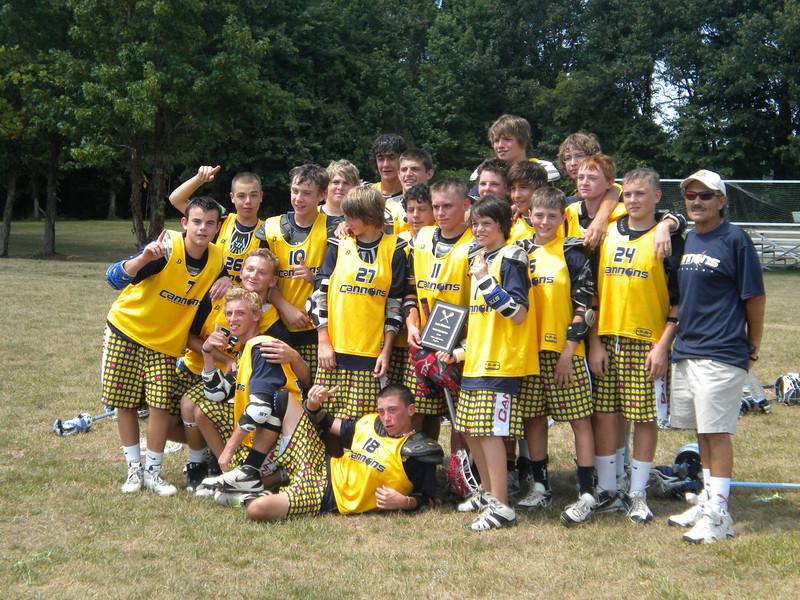 Calvert Cannons Select Lacrosse Team 2010 Lax Heroes U15 Tournament Champions