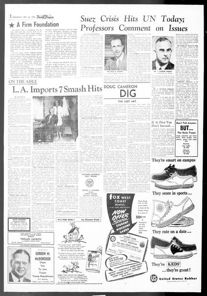 Daily Trojan, Vol. 48, No. 4, September 26, 1956