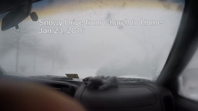 Snowy Drive from Church to Home.mp4