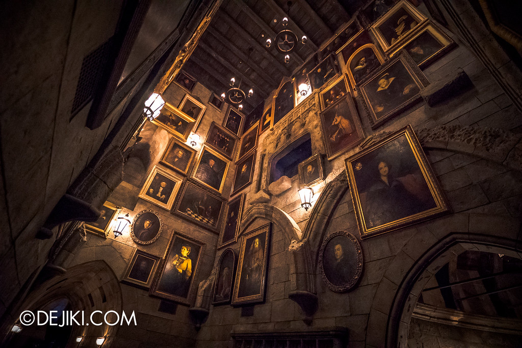 Universal Studios Japan - Harry Potter and the Forbidden Journey / Hogwarts Castle Walk Tour - The Portrait Hall