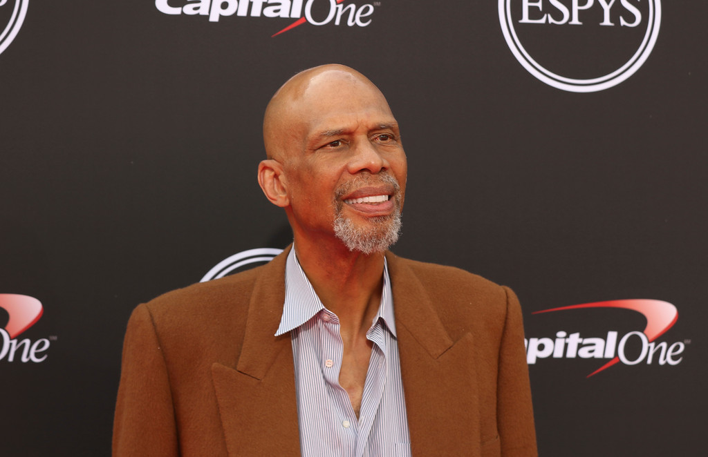 . Former NBA player Kareem Abdul-Jabbar arrives at the ESPY Awards at Microsoft Theater on Wednesday, July 18, 2018, in Los Angeles. (Photo by Willy Sanjuan/Invision/AP)