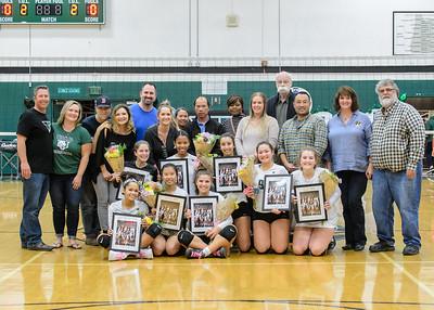 Tigard HS  Varsity Volleyball Senior Night