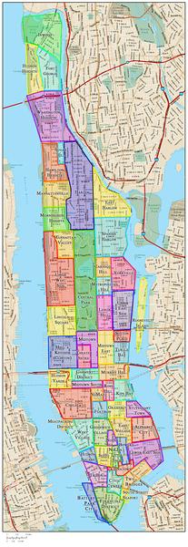 Manhattan Neighborhoods Map