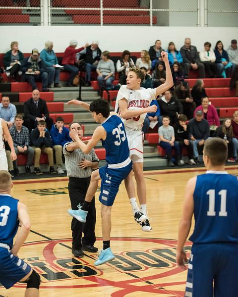 2019 Boys JV Basketball:  Hall-Dale vs Mt Valley