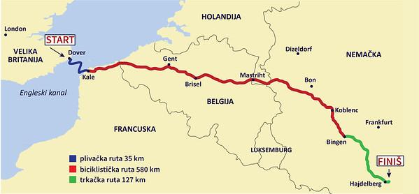 Lamanš Triatlon Dover-Heidelberg-742km