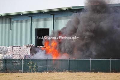I.E.S.I. Recycling Plant fire. McKinney, TX.