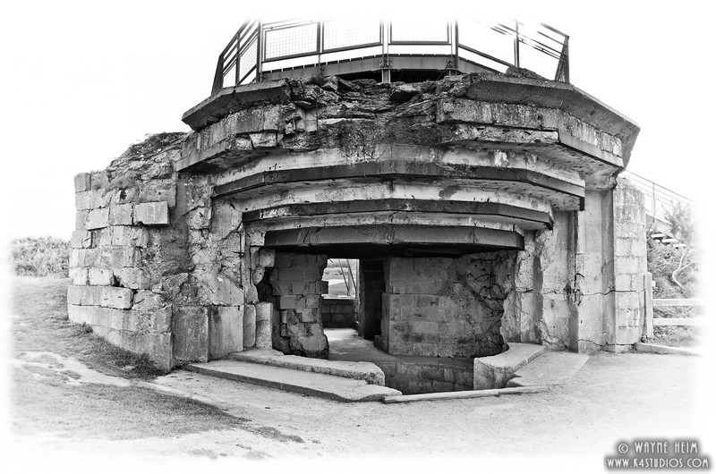 German Bunker 12   Black and White Photography by Wayne Heim