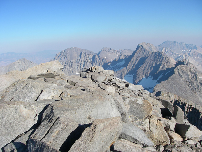 The view towards south from Mt Sill (14,153 ft = 4.314 m)...