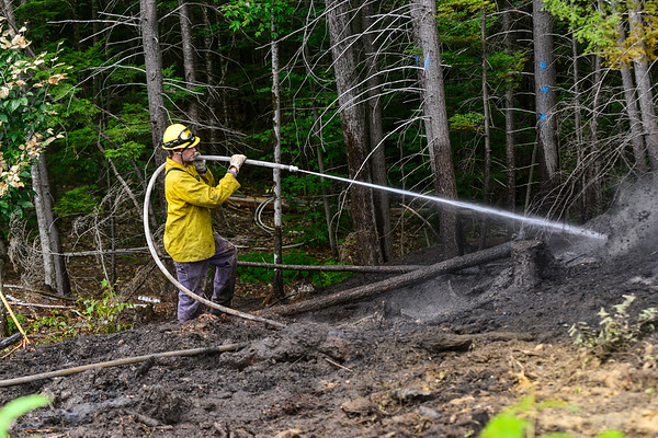 Brush fire in Pisgah State Park - 082620