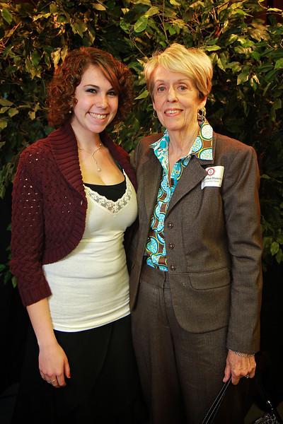 Sara Ellen Hamrick, Ashley Harwood. Scholarship Luncheon at Gardner-Webb University.