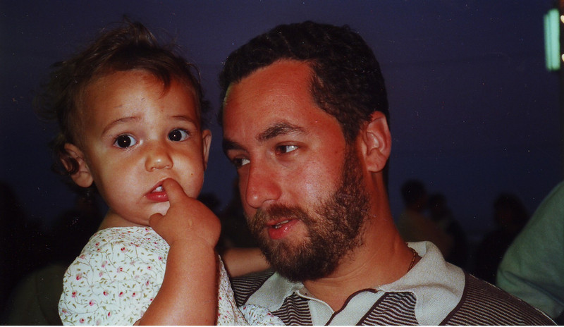 My niece Charlotte with her dad, Mark.