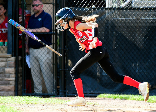 7/26/2018 Mike Orazzi | Staff CT's Della Jackson (19) during the Little League Eastern Regional Softball Tournament at Breen Field in Bristol Thursday.