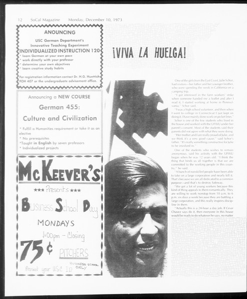 SoCal Magazine, Vol. 66, No. 54, December 10, 1973