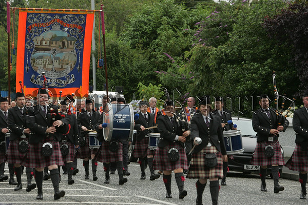 Members of Altnaveigh Loyal Orange Order pictured during the 12th parade in Newry. 07W29N5