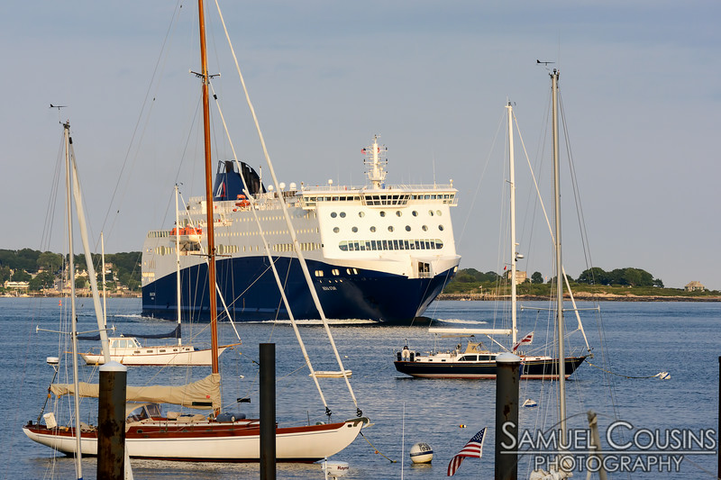 The Nova Star arriving from Nova Scotia.