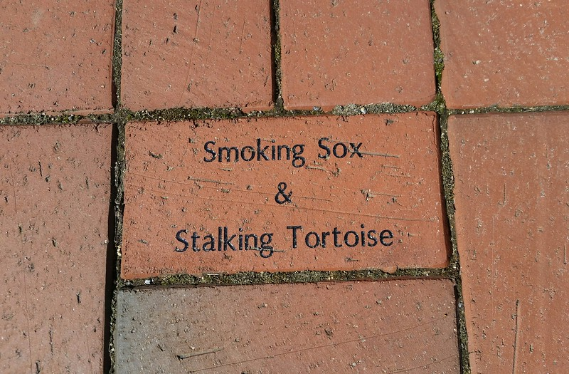 Thanks to Smoking Sox for our brick along the AT in Damascus VA