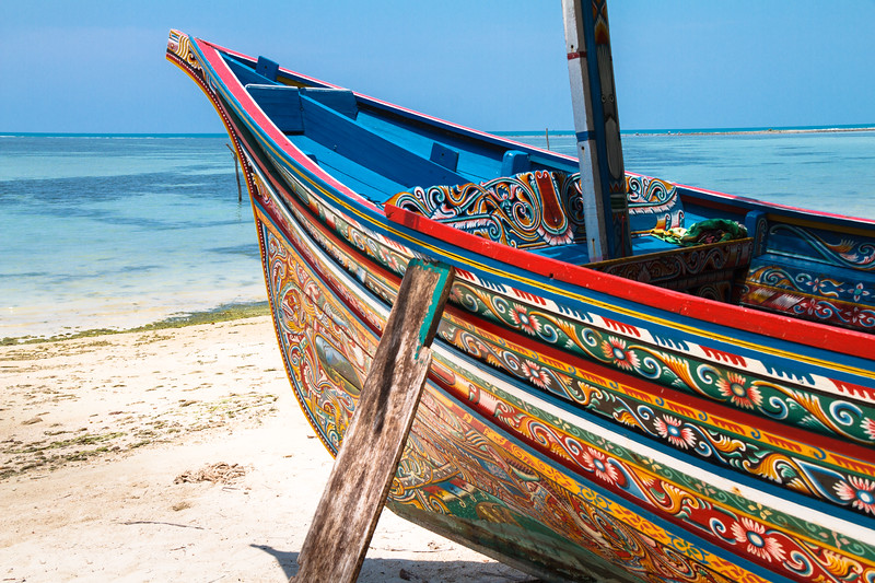Stunning paintings on this boat pictured at Ban Hua Thanon, a muslim fishing village near Lamai beach.