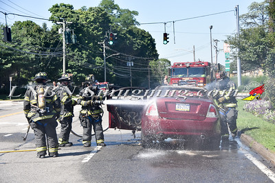 Syosset F.D. Car Fire Jericho Turnpike IFO the Crest Hollow 7-31-15
