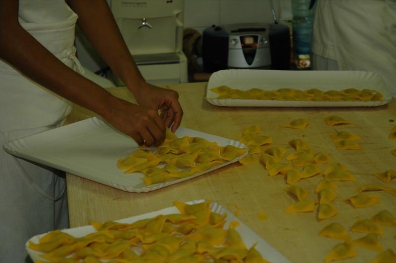Making Tortelloni at a Sfoglini - Bologna, Italy