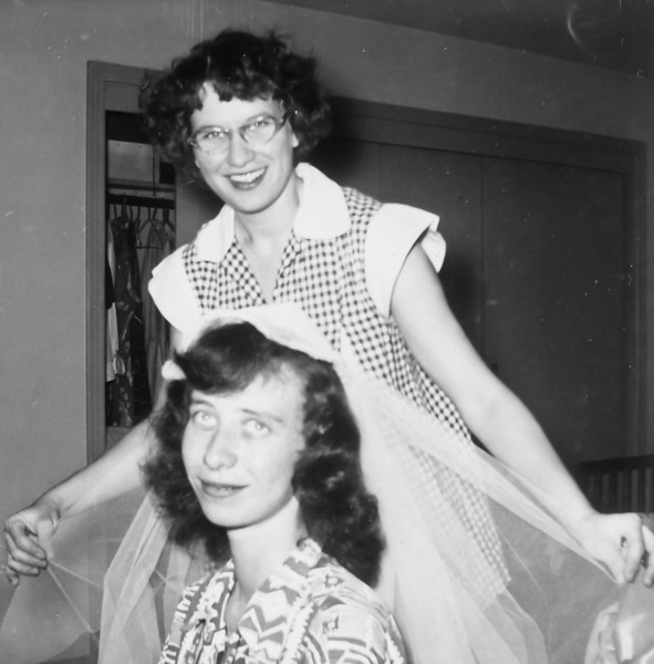 Maria Smock and Mary Schulte Jacob 1954