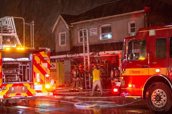 December 2, 2018 - Working Fire - 1345 Gerrard St E.