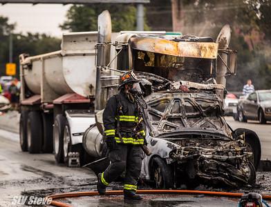Semi-Truck Crash Hwy 1 & River St
