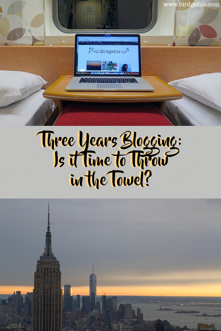 Three years blogging seems to bring with it a make or break point - is it worth continuing, or is it time to throw in the towel?