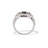 Art Deco Inspired Princess Cut Diamond Halo Ring 3