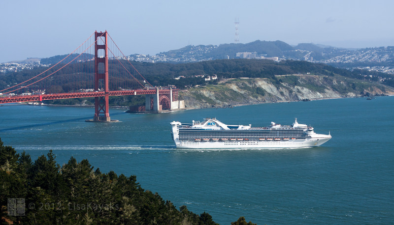 First of two really big cruise ships that set sail later that afternoon.