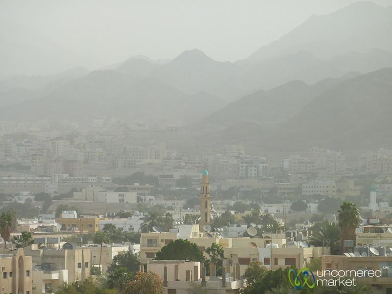 Skyline View of Aqaba Town - Jordan