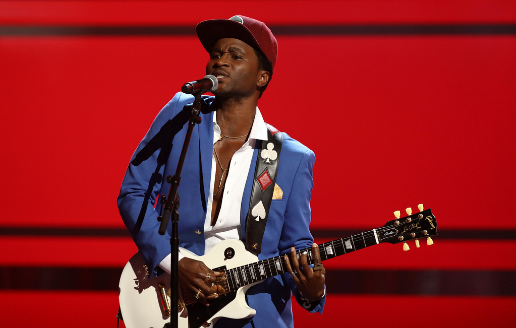 ". Roman Gianarthur performs ""Johnny B. Goode\"" at the BET Awards at the Microsoft Theater on Sunday, June 25, 2017, in Los Angeles. (Photo by Matt Sayles/Invision/AP)"